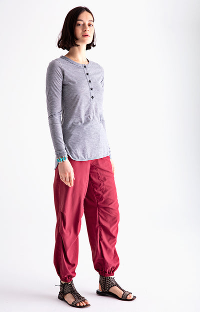Serene - Ultra Comfortable Travel Pants in Red Maple