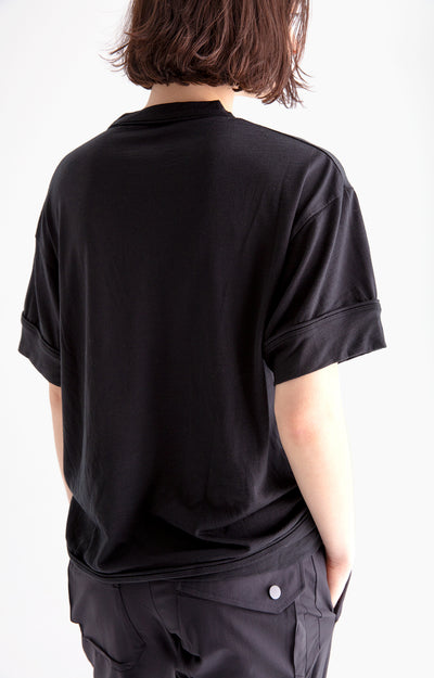 Tranquil - Effortless Merino Travel T-shirt in Midnight