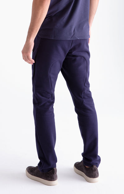 Artist Quest - Jersey Travel Pants in Dark Blue