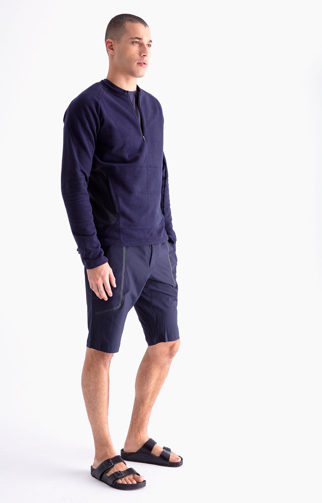 Genius - Ultrasonic Welded Tech Shorts in Navy
