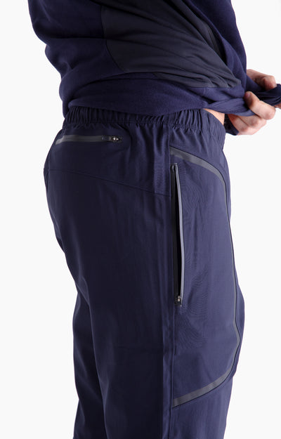 Genius - Two-In-One Zip Pocket Travel Shorts in Navy