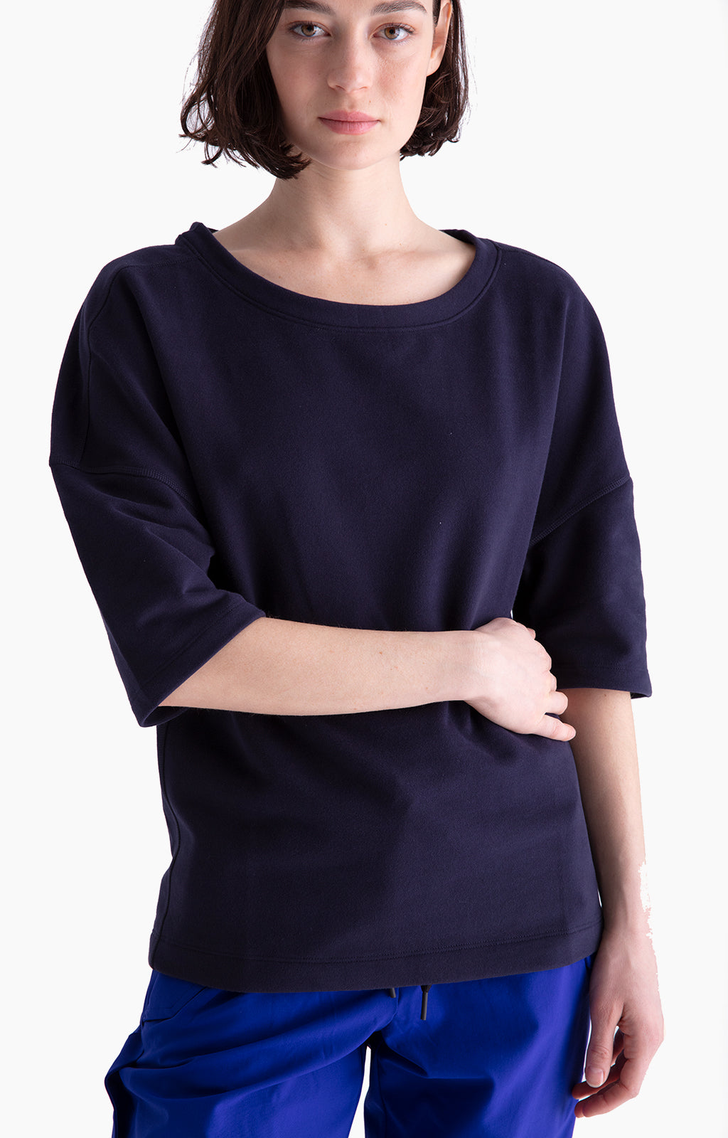 Integrity - Slouchy Travel Sweatshirt in Dark Blue