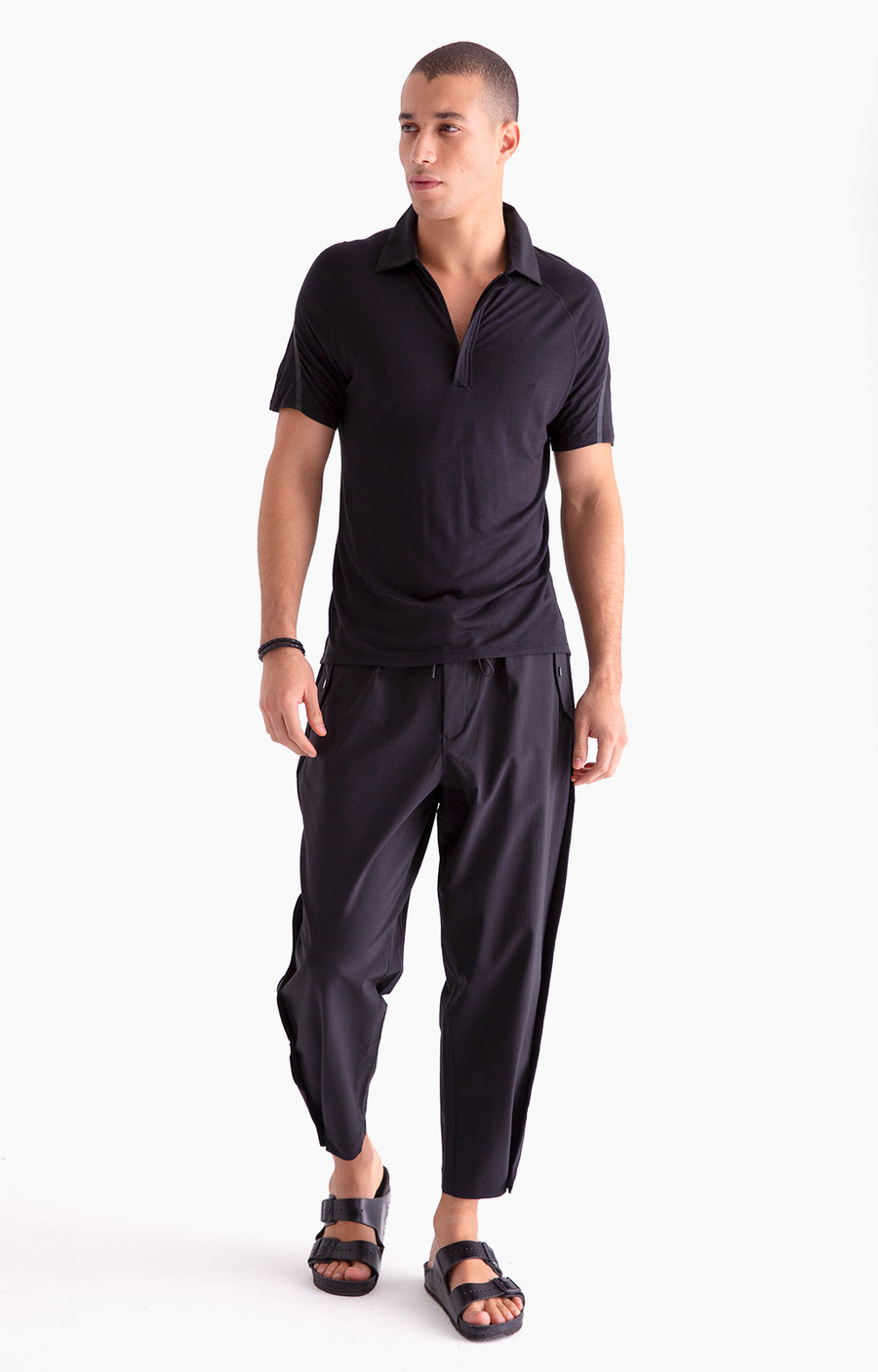 Wanderlust - Stretch-Tech Travel Trousers in Black