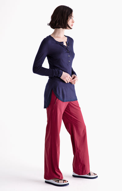 Imagine - Insanely Comfy Long-Haul Flight Pants in Red Maple