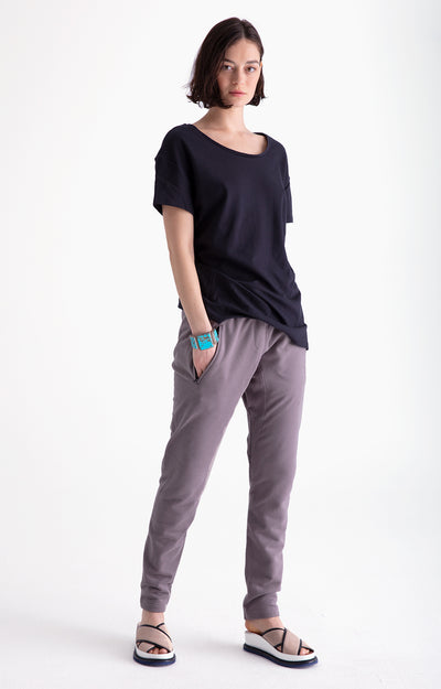 Inherent - Ultra-Comfortable Knit Traveler Pant in Gray