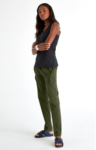 Resilience - India Inspired Ultra Comfortable Travel Pants in Dark Green