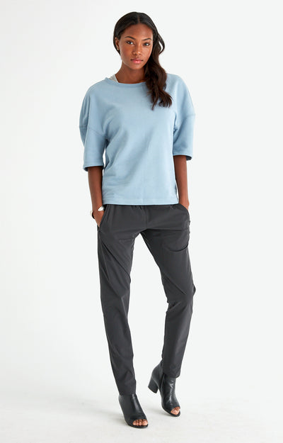 Integrity - Slouchy Comfy Travel Sweatshirt in Blue