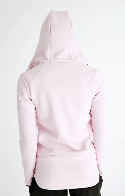 Acumen - Ultra-Soft Sherpa Travel Hoodie in Powder Rose