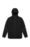 Probability - Fleece Lined Soft-Shell Hooded Travel Jacket in Black