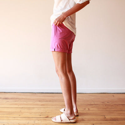 Tranquility - Stretch Travel Short in Rosebud