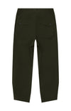 Wanderlust - Cropped Stretch-Tech Travel Trousers in Dark Green