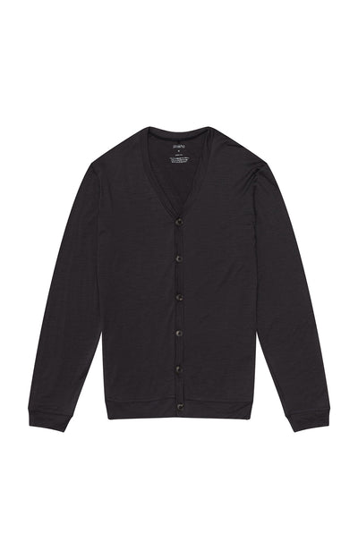 Intrinsic - Merino Travel Cardigan in Charcoal