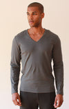 Unbounded – Zip Pocket Ultra-Soft Long Sleeve Tee Gray