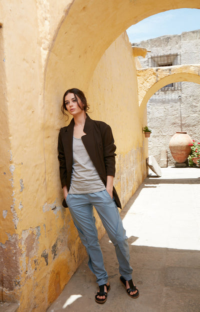 Purity - Meticulous Craftsmanship, Travel Pants in Dust Blue