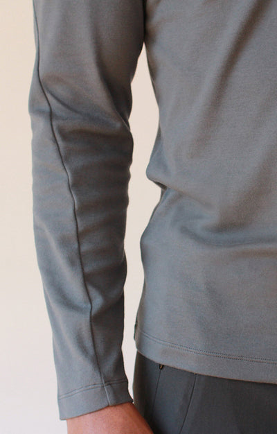 Unbounded - Zip Pocket Long Sleeve in Gray