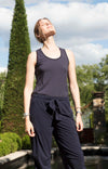 Spatial Purity - Luxurious Tank in Navy