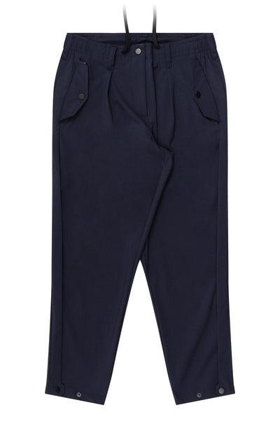Wanderlust - Cropped Stretch-Tech Travel Trousers in Navy