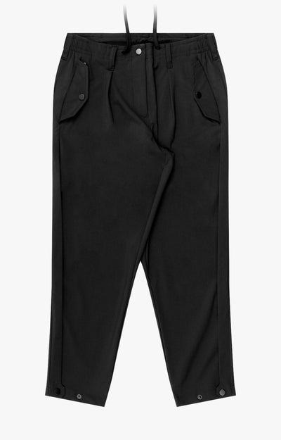 Sanctuary - Cropped Pleated Stretch-Tech Travel Pants in BLACK