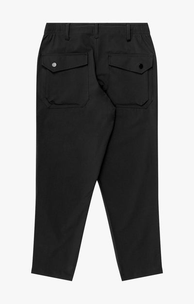 Sanctuary - Cropped Pleated Stretch-Tech Pants in Black