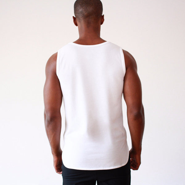 Absolute – Perfectly Cut Piqué Tank White