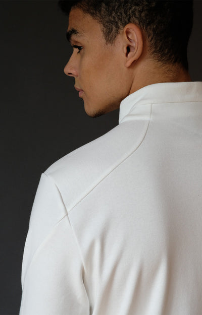 Lucid - Microknit 1/4-Zip Pullover in White
