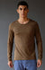 Entice – Insanely Comfortable Contoured Merino Silk Long Sleeve Tee Coffee