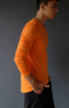 Entice – Insanely Comfortable Contoured Merino Silk Long Sleeve Tee Orange