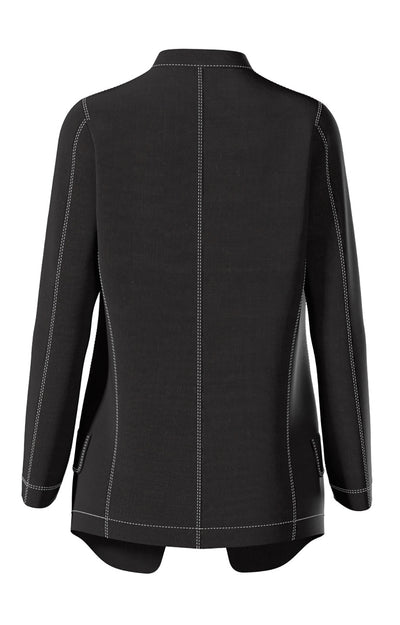 Quiet - Men's Band Collar Cut to Perfection Jacket in Black