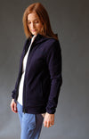 Imagination – Artistic and Elegant Cotton Travel Hoody Blue