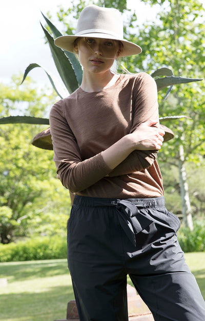 Serene - Ultra Comfortable Travel Pants in Dark Charcoal
