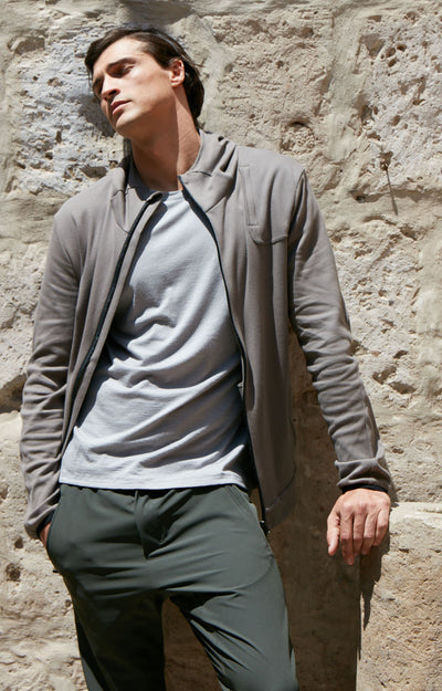 Imagination - Cotton Travel Hoodie in Twig Natural