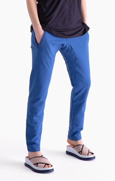 Inherent - Ultra-Comfortable Knit Traveler Pant in Blue