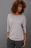 Integrity – Luxe Slouchy Merino Silk Travel Tee Grey