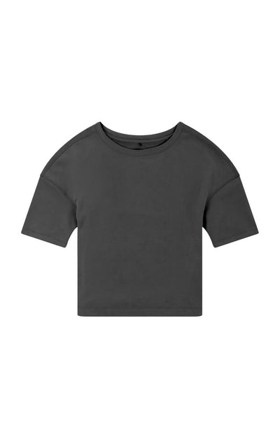 Integrity - Luxe Slouchy Merino Tee in Charcoal