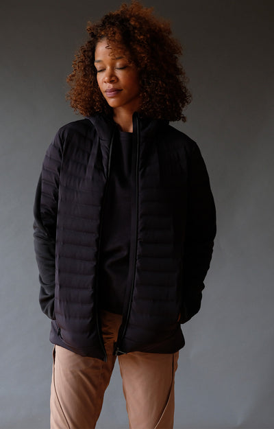 Limitless - Superb Mobility Down Hoody in Black