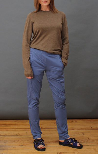 Opulence -  Slim-Fit Traveler Pant in Bijou Blue