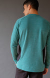 Impulse - Merino Microknit 1/4-Zip Pullover in Alpine Green