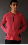 Impulse - Ultra Soft Merino Microknit 1/4-Zip Pullover Red