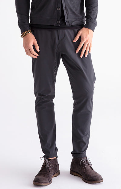 Minimalist - Modern Tailored Tech Pants in Dark Grey
