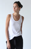 Spatial Purity - Luxurious Tank in White