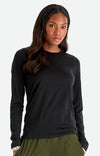 Charm - Sensual Merino Long Sleeve Travel Tee in Black