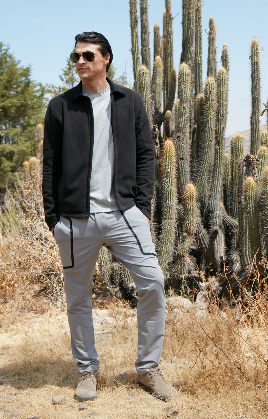 Urban - Two-In-One Zip Pocket Tech Pant in Frost Gray
