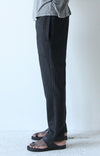 Urban Opulence - Pinstripe Wool Travel Pant in Dark Gray