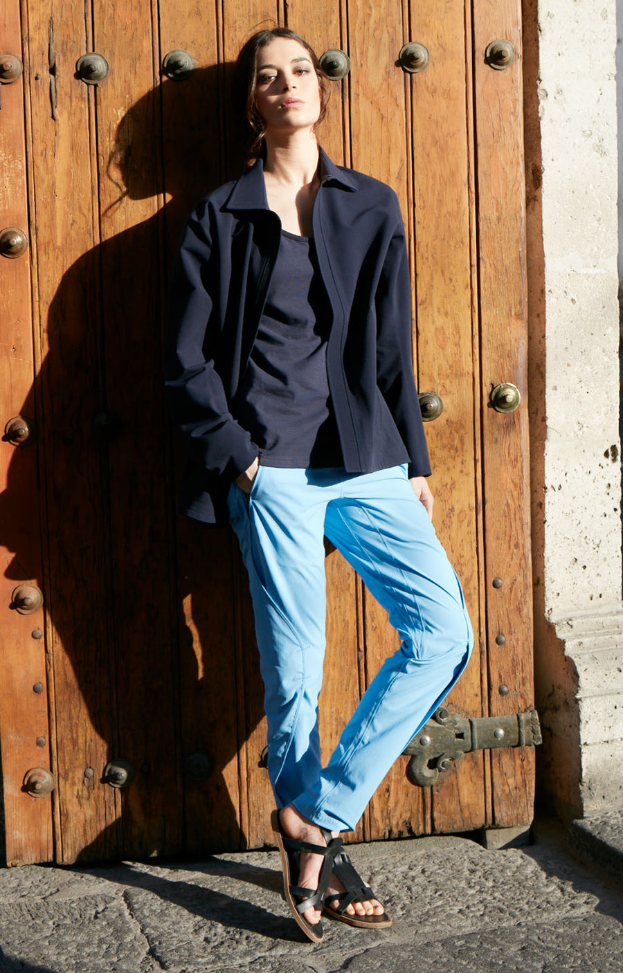 Purity - Meticulous Craftsmanship, Travel Pants in Ciel Blue