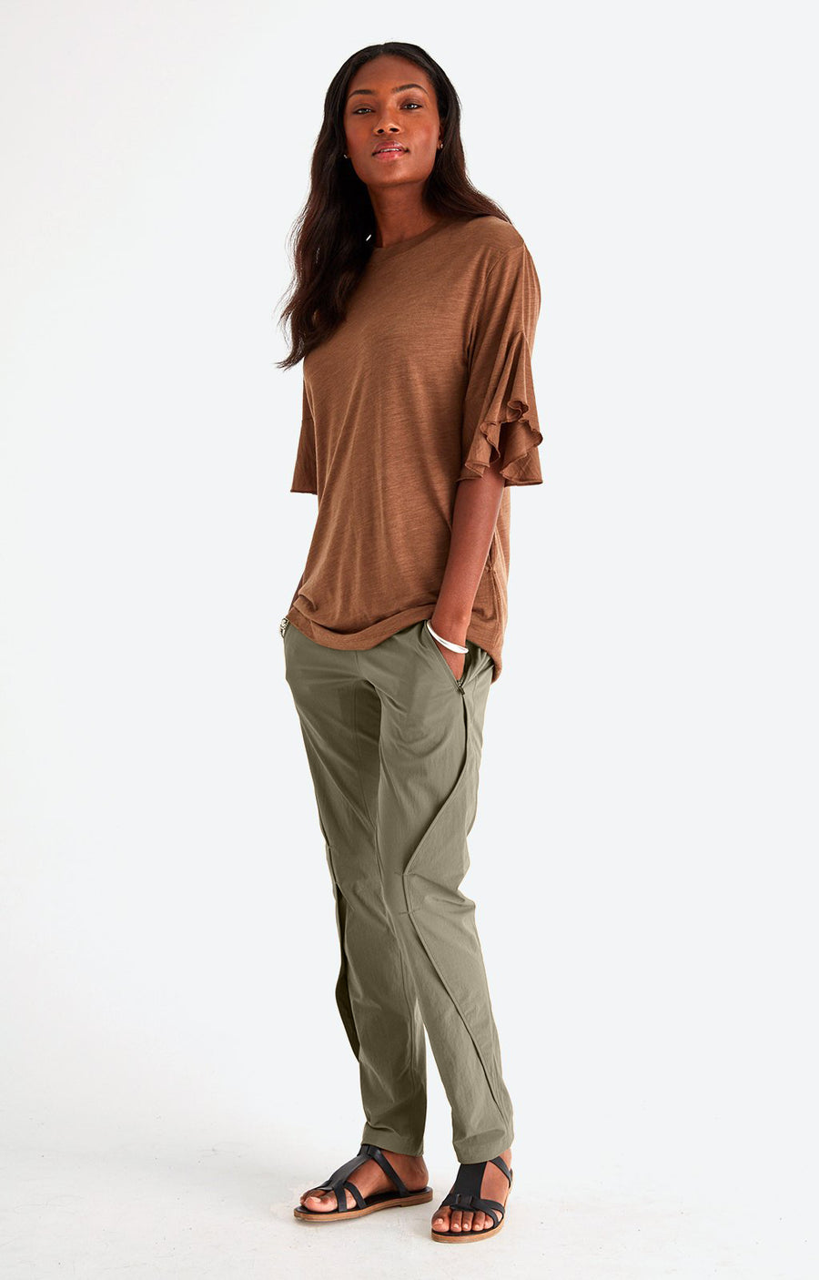 Purity - Meticulous Craftsmanship, Travel Pants in Khaki
