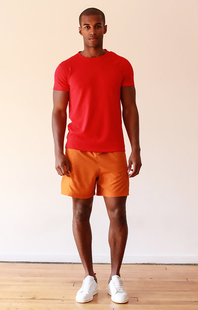 Horizon - Ultralight Comfort Shorts in Orange