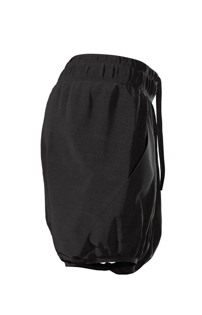 Mesmerize - Women's Soft Draped Cotton Jersey Skort in Black