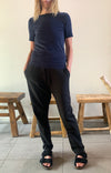 Rejuvenate - Luxurious Comfort, Slim-Fit Tapered Stretch Track Pants