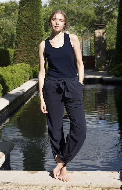 Spatial Purity - Luxurious Tank in Midnight Blue