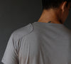 Intention – Merino Silk Zip Pocket V-neck Tee Neutral Grey
